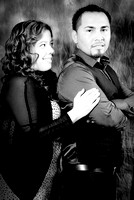 Engagement pictures in Montebello studios