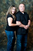 Engagement photography in Montebello Studios, Los Angeles, Orang