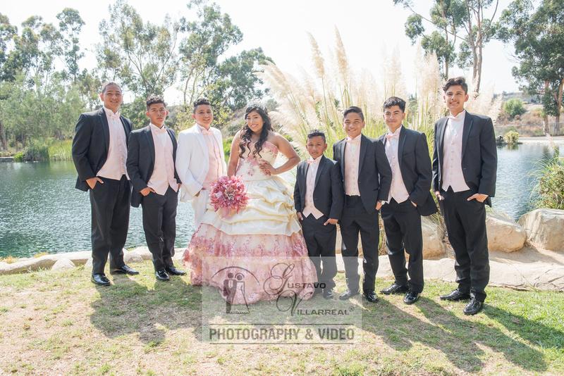 Ashley Cisneros quinceaneras, sweet sixteens, weddings,family portraits in Inglewood Ca.